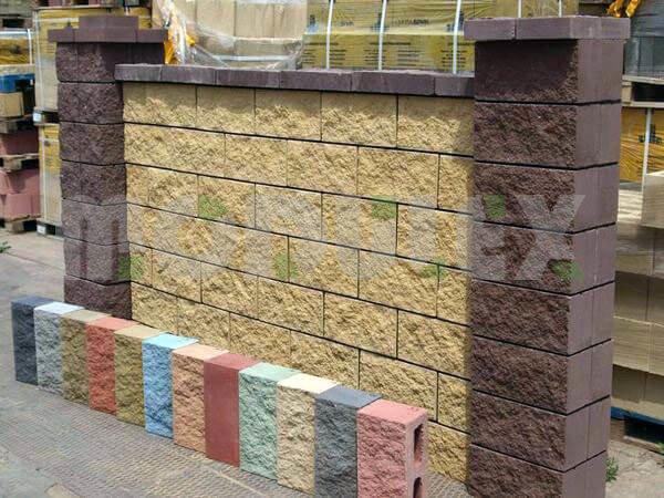 zaMurowane cegły do budowania domu