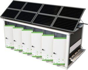 автономный санитарный блок с солнечными батареями