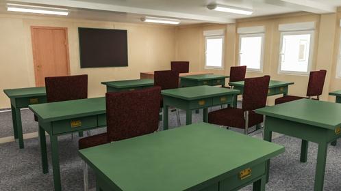 Szkoła modułów Widok wewnątrz