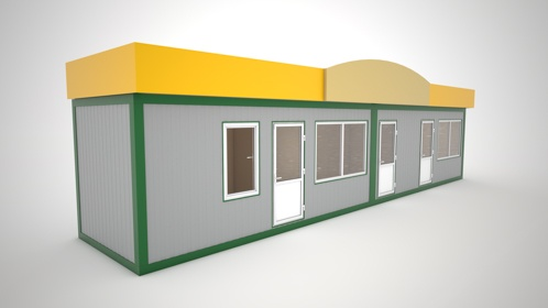 Pawilon handlowo-modułowy